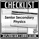 CHECKLIST   AUSTRALIAN CURRICULUM   SENIOR SECONDARY PHYSICS