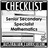 CHECKLIST | AUSTRALIAN CURRICULUM | SENIOR SECONDARY SPECI