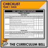 CHECKLIST | AUSTRALIAN CURRICULUM | YEAR 1 HASS