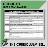 CHECKLIST | AUSTRALIAN CURRICULUM | YEAR 3 MATHEMATICS