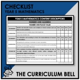 CHECKLIST | AUSTRALIAN CURRICULUM | YEAR 5 MATHEMATICS