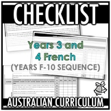 CHECKLIST | AUSTRALIAN CURRICULUM | YEARS 3 AND 4 FRENCH (