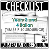 CHECKLIST | AUSTRALIAN CURRICULUM | YEARS 3 AND 4 ITALIAN