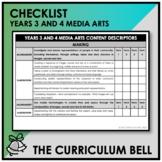 CHECKLIST | AUSTRALIAN CURRICULUM | YEARS 3 AND 4 MEDIA ARTS