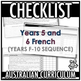 CHECKLIST | AUSTRALIAN CURRICULUM | YEARS 5 AND 6 FRENCH (