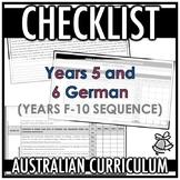 CHECKLIST | AUSTRALIAN CURRICULUM | YEARS 5 AND 6 GERMAN (F - Y 10)