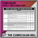 CHECKLIST | AUSTRALIAN CURRICULUM | YEARS 7 AND 8 MEDIA ARTS