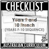 CHECKLIST | AUSTRALIAN CURRICULUM | YEARS 9 AND 10 FRENCH