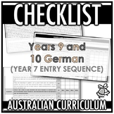 CHECKLIST | AUSTRALIAN CURRICULUM | YEARS 9 AND 10 GERMAN