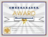 """CHEER COACH """"Most Improved"""" Award- Cheerleading Series for All Grade Levels!"""
