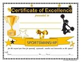 "CHEER COACH ""Sportsmanship"" Award- Gold Cheerleading Series for Any Grade Level!"