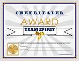 "CHEER COACH ""Team Spirit"" Award- Cheerleading Series for All Grade Levels!"