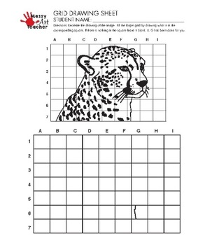 CHEETAH Grid Drawing Worksheet for Middle/High Grades