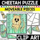 CHEETAH PUZZLE Moveable Pieces Clip Art