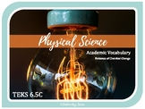 CHEMICAL CHANGE - 6th Grade Science Visual Vocabulary {TEKS 6.5C} UPDATED 2019
