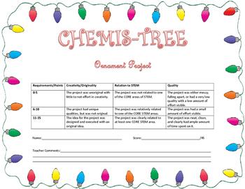 CHEMIS-Tree STEM Ornament Project