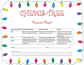 CHEMIS-Tree STEM Ornament Project