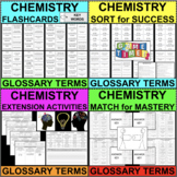 CHEMISTRY BUNDLE Vocabulary Glossary Differentiated Activities