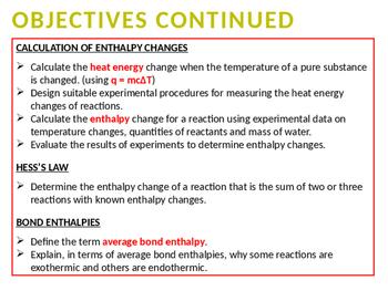 CHEMISTRY NOTES ON ENERGETICS 1