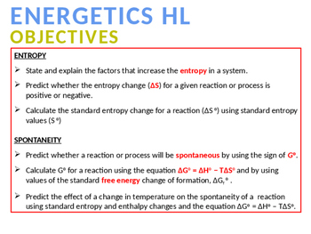 CHEMISTRY NOTES ON ENERGETICS - 3