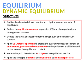 CHEMISTRY NOTES ON EQUILIBRIUM