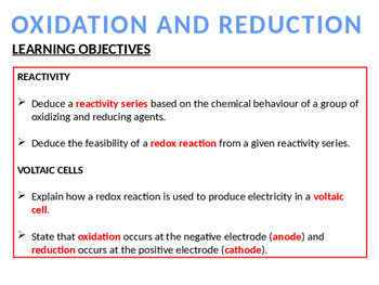 CHEMISTRY NOTES ON REDOX - 1