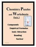 CHEMISTRY PUZZLES and WORKSHEETS Pack 2