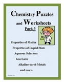 CHEMISTRY Puzzles and Worksheets Pack 3