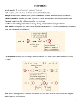 CHEMISTRY KEY CONCEPTS 1