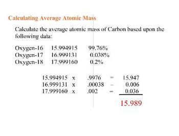 CHEMISTRY - SMART Notebook - Calculating Average Atomic Mass