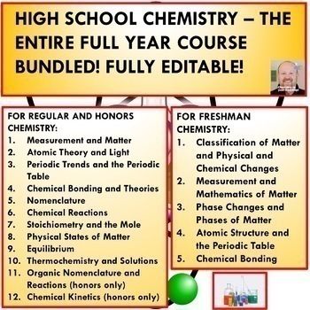 HIGH SCHOOL CHEMISTRY - THE ENTIRE FULL YEAR COURSE BUNDLE! OVER 3000 PAGES!