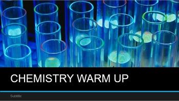 CHEMISTRY WARMUP: BONDING