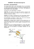 CHEMISTRY WORKBOOK - Mass Spectrometry