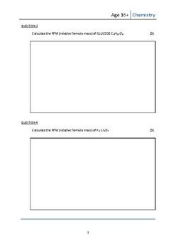 CHEMISTRY WORKBOOK  Quantitative Chemistry