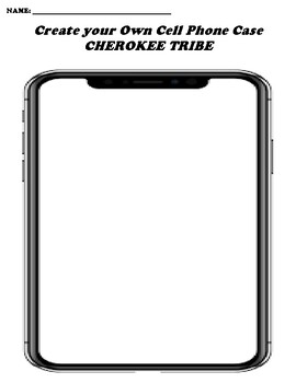 CHEROKEE TRIBE CREATE YOUR OWN CELL PHONE COVER