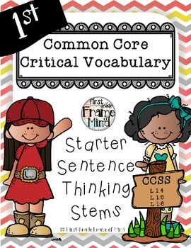 Academic Vocabulary Anchor Charts Sentence Frames Grades 1-8 CHEVRON