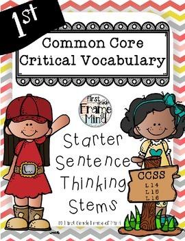 Posters Sentence Frames Vocabulary Grades 1-8 CHEVRON