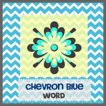 CHEVRON BLUE theme - Newsletter Template WORD