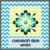 CHEVRON BLUE theme - Newsletter Template WORD