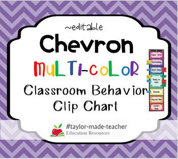 CHEVRON Behavior Clip Chart Behavior Management System {Editable}