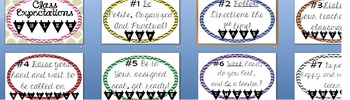 2016 CHEVRON CLASS RULES PROCEDURES EXPECTATIONS COLOR/BLACK POSTER back school