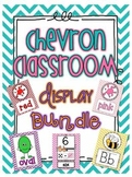 CHEVRON Classroom Display Bundle- Alphabet, Numbers, Color