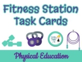 Fitness Station Task Cards - Chevron Theme!