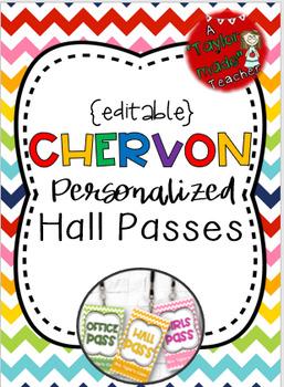 CHEVRON Hall Passes Lanyards {EDITABLE}