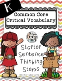 Academic Vocabulary Anchor Charts Sentence Frames K-8 CHEVRON