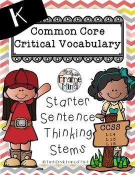 Posters Sentence Frames Vocabulary K-8 CHEVRON