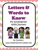 CHEVRON Kindergarten Journeys Letters & Sight Words Posters