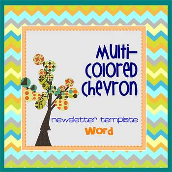CHEVRON MultiColored theme - Newsletter Template WORD