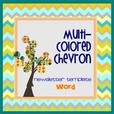 CHEVRON MultiColored theme - Newsletter Template WORD