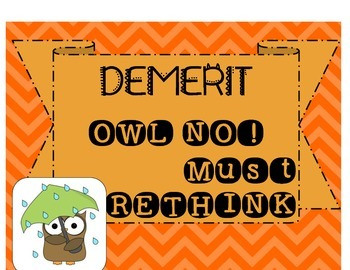 CHEVRON OWL STANDING BEHAVIOR CHART POSTERS FOR CLASSROOM MANAGEMENT